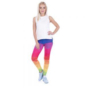 High Waist Rainbow Fitness Leggings