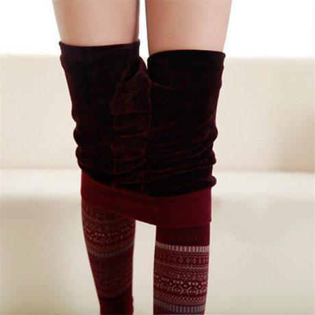Winter Leggings, Women's High Waist Warm Leggings 2