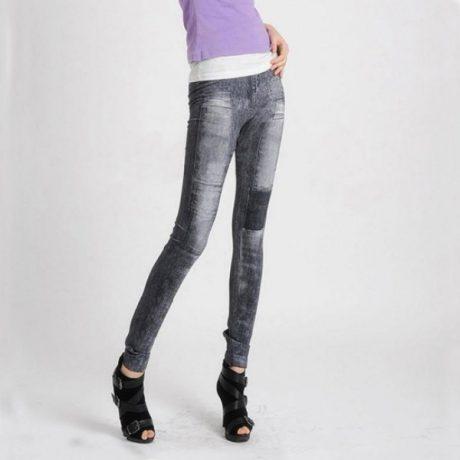 Women's Denim Leggings,Thin Jeans, Casual Denim Leggings 4