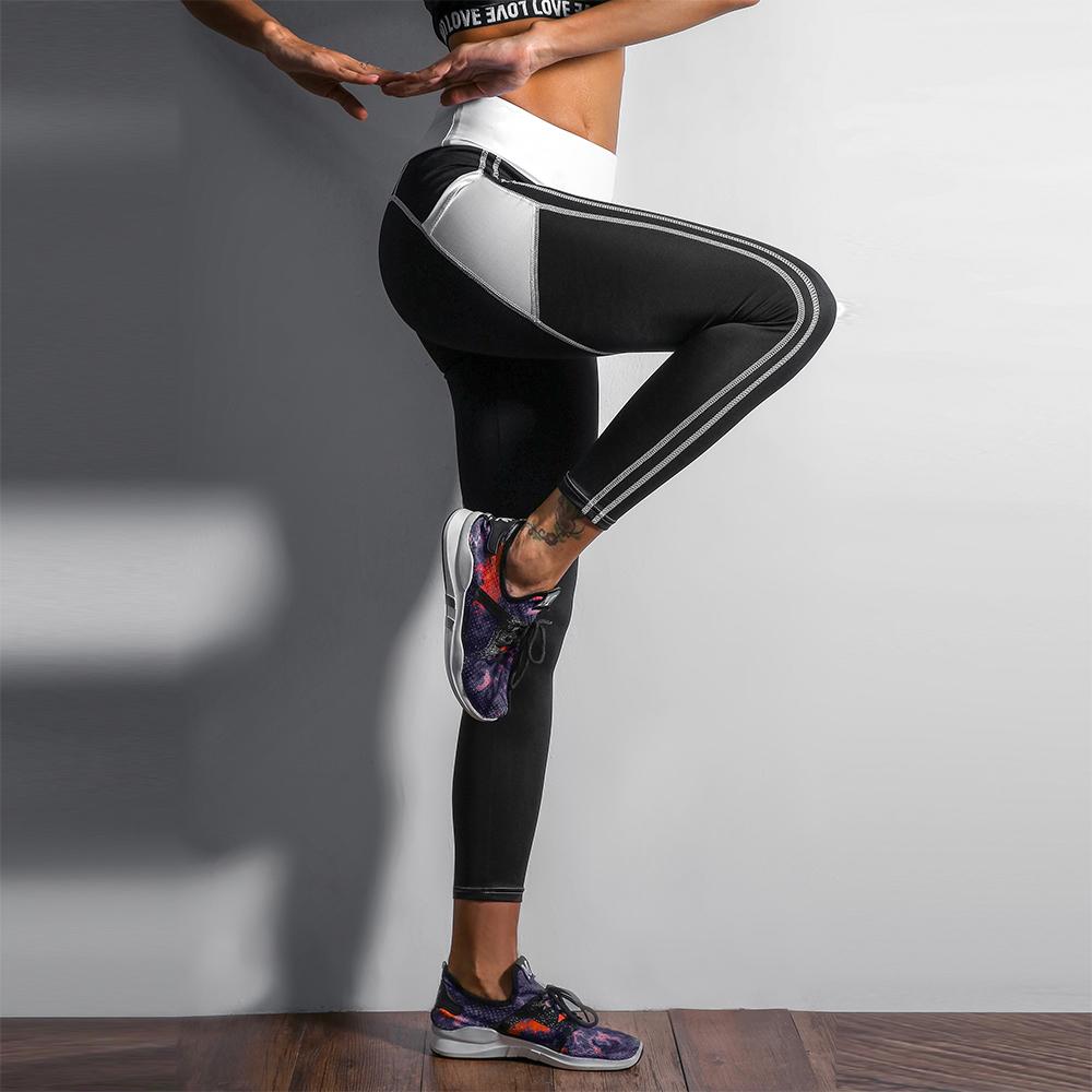 Heart Shape Love Leggings, Women's Sporting High Waist Fitness Leggings With Pocket 23