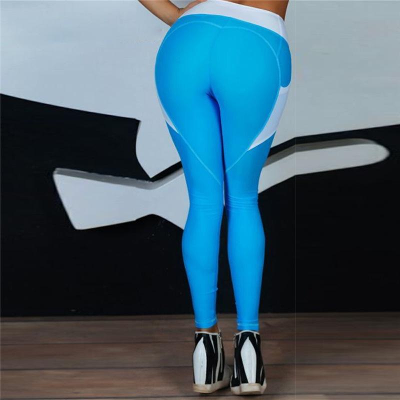 Heart Shape Love Leggings, Women's Sporting High Waist Fitness Leggings With Pocket 35
