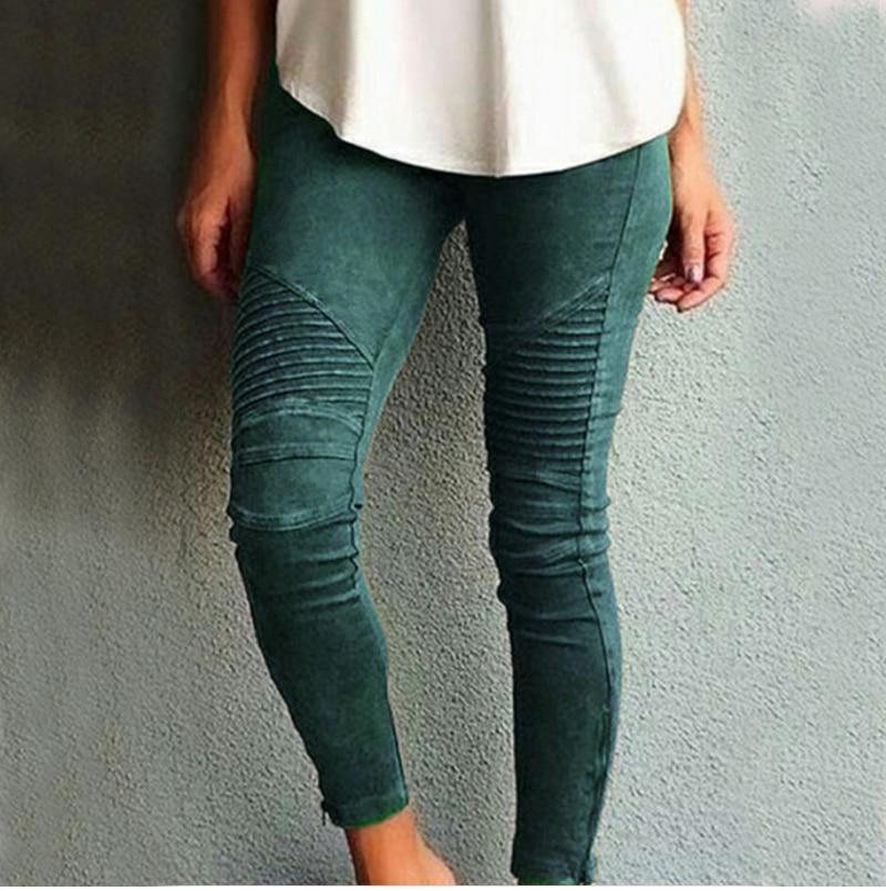 Fashion Plus Size Women's Leggings Stretch Trousers, 5 Colors 44