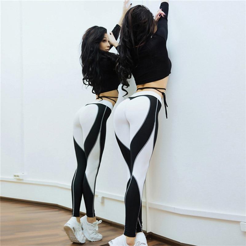 Heart Shape Love Leggings, Women's Sporting High Waist Fitness Leggings With Pocket 32