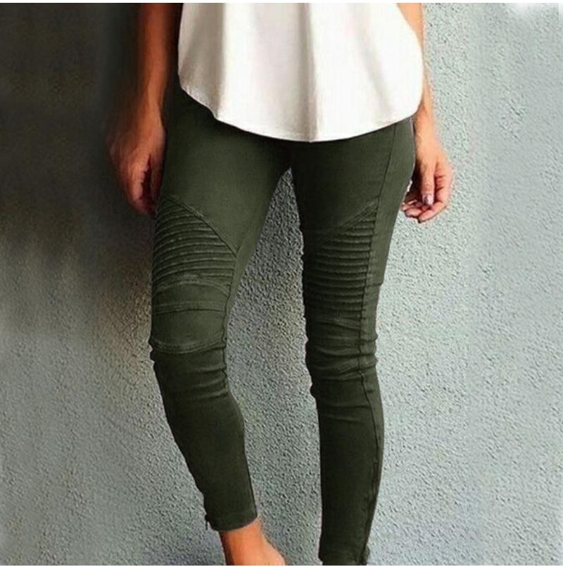Fashion Plus Size Women's Leggings Stretch Trousers, 5 Colors 48