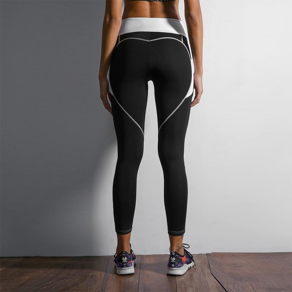 Heart Shape Love Leggings, Women's Sporting High Waist Fitness Leggings With Pocket 24