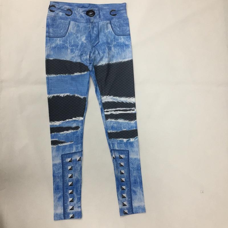 New Fashion Women's Jeans Print Leggings, Sporting Leggings 3D Elastic Pants 5