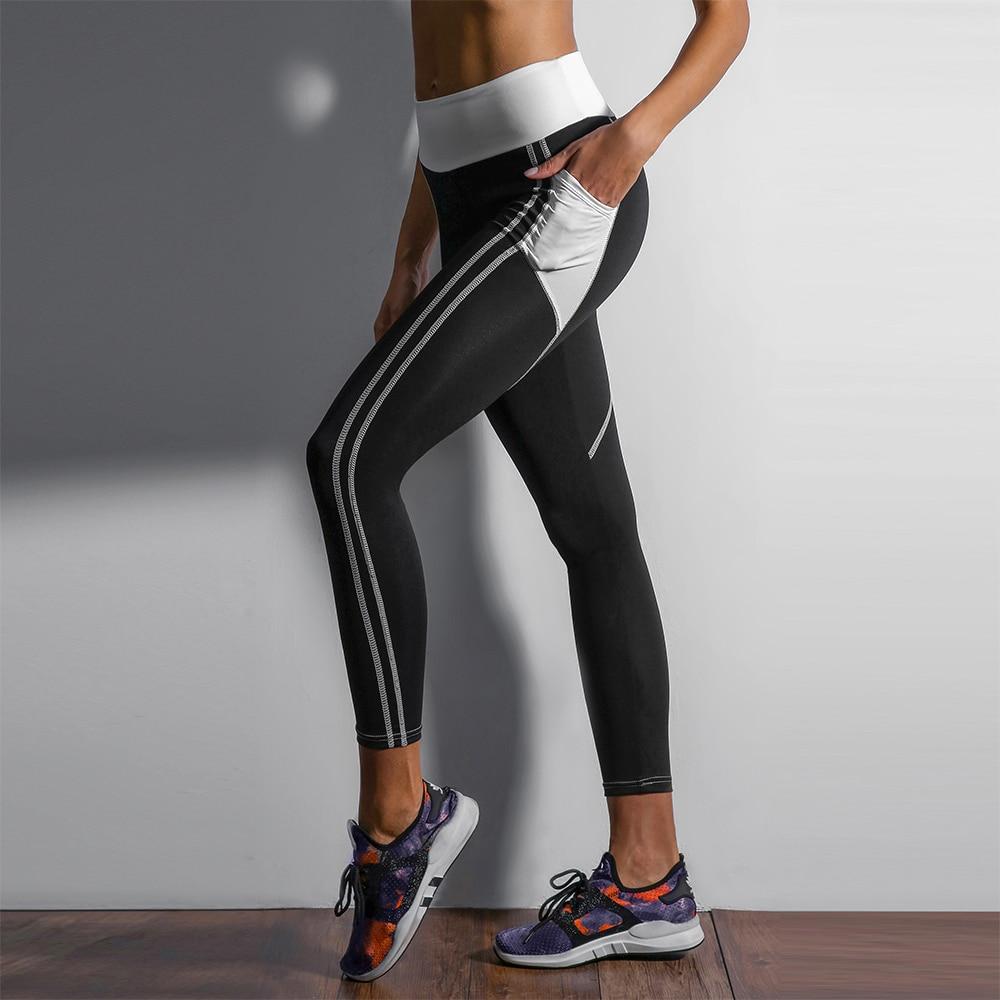 Heart Shape Love Leggings, Women's Sporting High Waist Fitness Leggings With Pocket 22