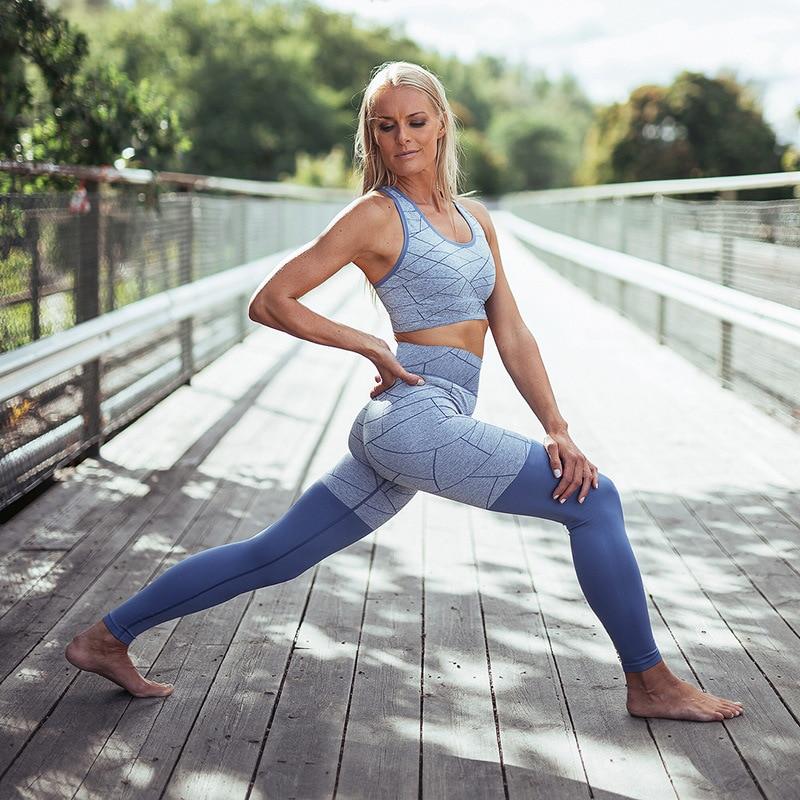 High Waist Women's Leggings, Breathable Slim Legging Sets Women's Clothing 2