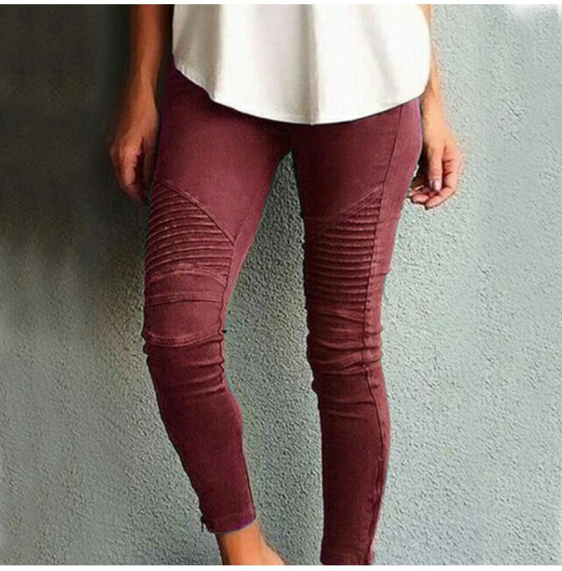 Fashion Plus Size Women's Leggings Stretch Trousers, 5 Colors 47