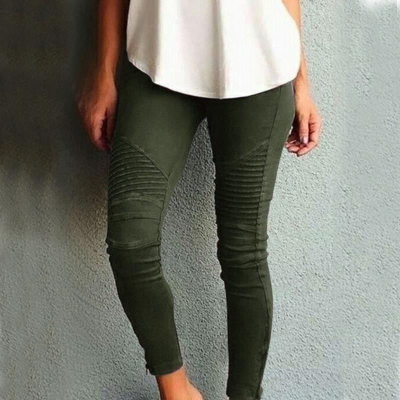 Fashion Plus Size Women's Leggings Stretch Trousers,  5 Colors 4