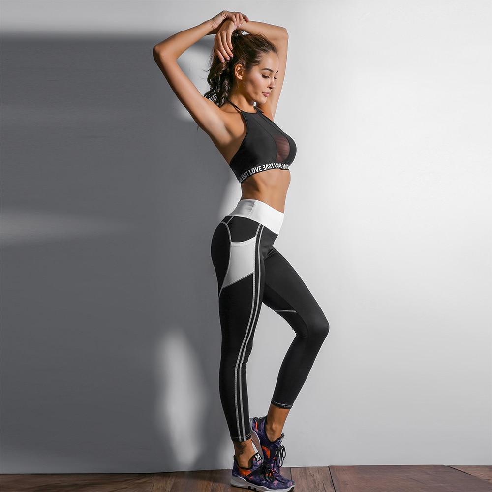 Heart Shape Love Leggings, Women's Sporting High Waist Fitness Leggings With Pocket 26