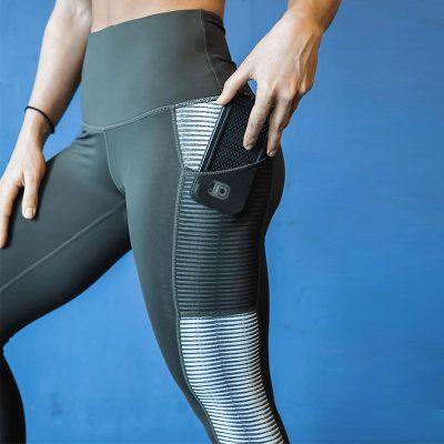 New Harajuku Striped Leggings, Women's Mesh Pocket Legging