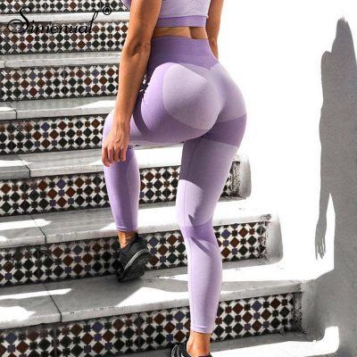 Patchwork Heart Leggings, Women's Activewear Push Up Legging